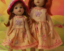 Peach Blossoms [2 outfits] for NEW TINY Riley & Riley Kish by JDL Doll Clothes