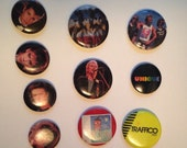 Group of Vintage rock pins 80s