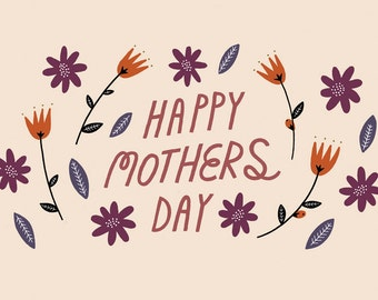 Mothers Dar Flower Card