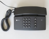 Vintage Push Button Phone UNUSED Touch Phone Telephone Black Phone Vintage Phone Desk Phone