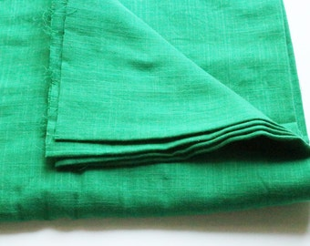 cotton double gauze fabric. soft japanese pure cotton fabric. 102cm (40in) wide. sold by 50cm (19in) long / half yard. bright green