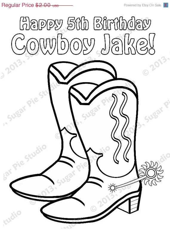 Cowboy Boots Coloring Pages Cowboy Cowgirl Boots