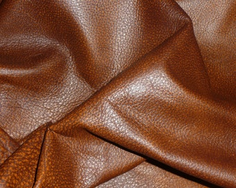 """Leather 20""""x20"""" BOMBER KING Hazelnut Brown and Rust Marbled Cowhide 3-3.25oz / 1.2-1.3mm PeggySueAlso™ E2882-03 Full hides available"""