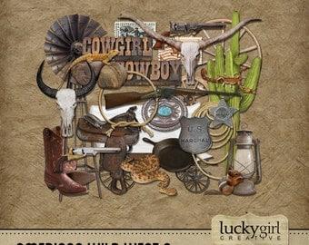 American Wild West 3 Digital Scrapbook Kit