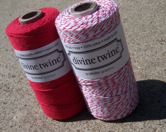 Divine Twine - Bakers Twine - Red Pack - TWO Colors - Your Choice of Quantity