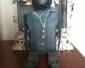 Vintage wooden cat doll