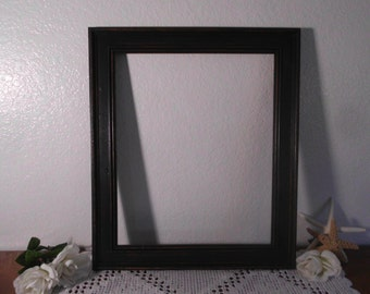 large rustic black wood frame 14 x 17 up cycled vintage man cave french country farmhouse western home decor wedding decoration gift him her