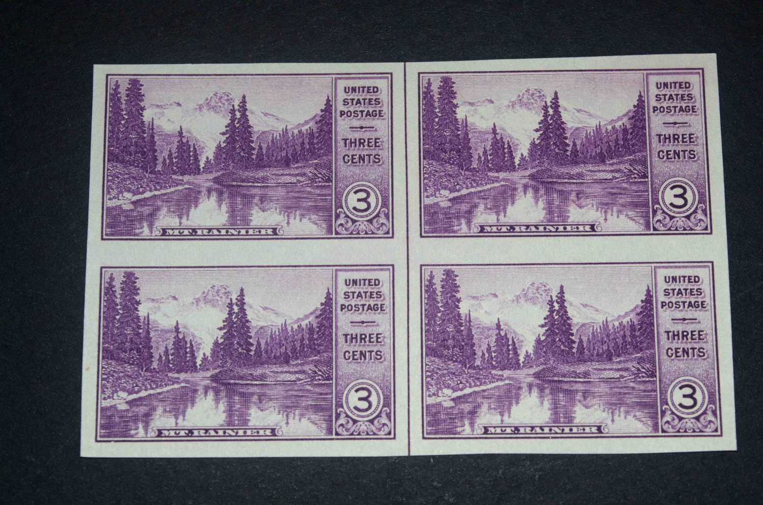 Us Stamps Mt Rainer And Mirror Lake 1934 on Historic Preservation Stamp 1971