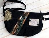 Belt bag/belt pack/hip bag/ fanny pack/ waist bag/ waist purse/woman bag/Boho bag/ Iphone 6 bagBlack lotus doily bagbag