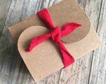 Small Kraft Paper Gift Box - 7.5cm x 6cm x 5cm - 10 boxes