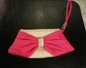 Custom Mini Bow Clutch Wristlet