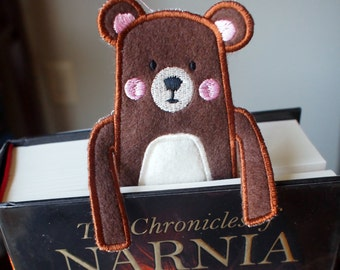 Bookmark - Bear - Felt Book Mark - Kids and Book Lovers - Personalization - Personalized