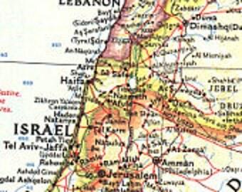 Israel Map Lands of theEastern Mediterranean 1959  19 x 25
