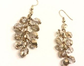 Elegant Gold Bead Earrings