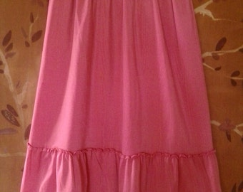 80s Pink lycra dance style skirt