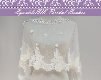 Wedding Bolero, Wedding Cape, Bridal Cape, Lace Wedding Bolero, Bridal Lace Top, Bridal Cape, Bridal Bolero, Organza Cape, Veil Alternative