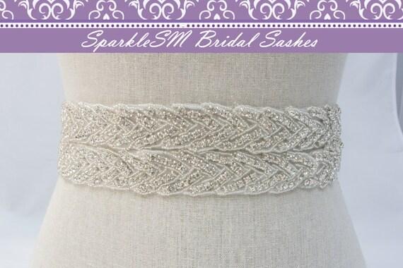 Bridal Sash, Wedding Sash, Bridal Belt, Crystal Sash, Rhinestone Sashes, Jeweled Belt, Bridal Belt, Wedding Gown Belt Bridal Belt, Adeline