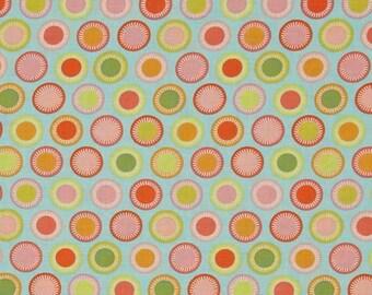 Aqua Budding Dots From Michael Miller's Helen's Garden