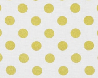 Glitz Gold Metallic Quarter Dots on White Pearlized Fabric From Michael Miller's Glitz Collection
