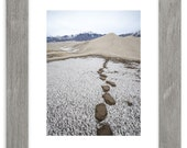 Great Sand Dunes Frost Footprints Matted Print