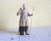 Religious Statues, Antique 18th Century Santos Figure, Wooden Carved Statue