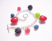 Berries Bracelet. Polymer Clay.