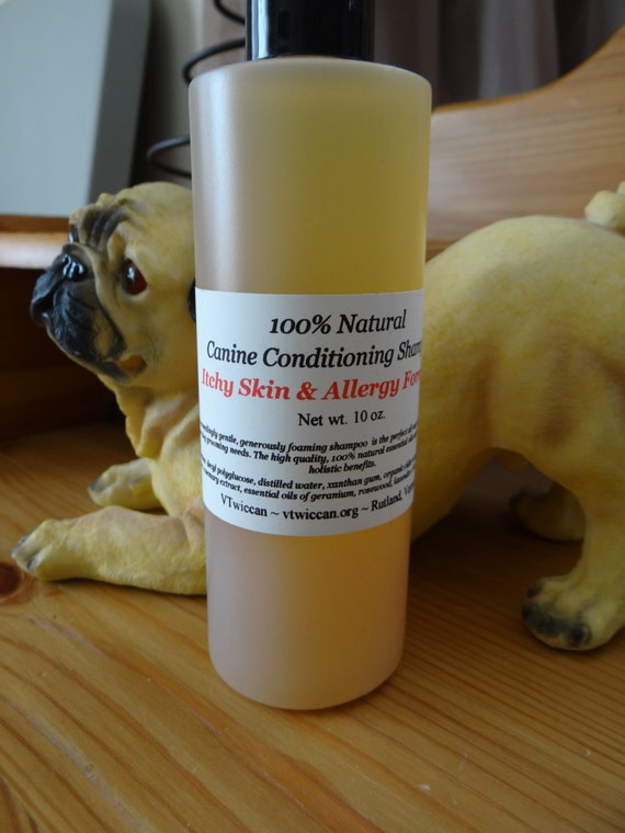 VTwiccan All Natural Conditioning Shampoo for Dogs - Itchy Skin & Allergy Formula NEW bigger size