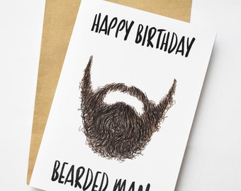 verjaardag man met baard