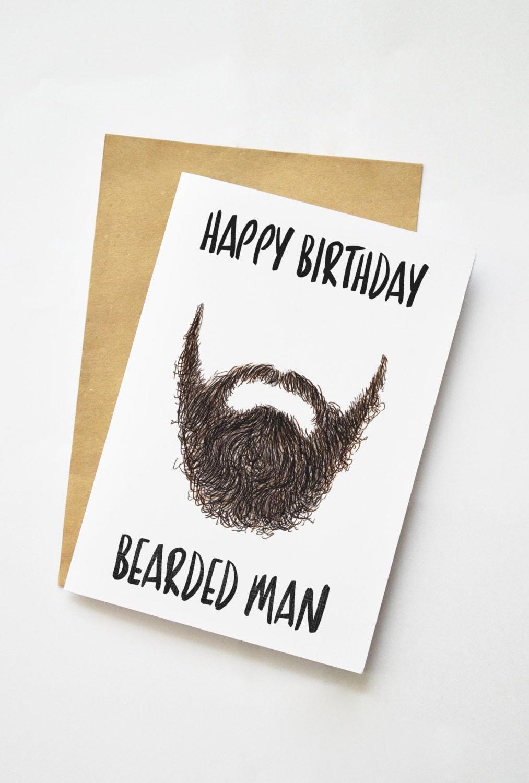 beard card  etsy, Birthday card