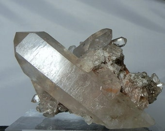 Naturally Terminated Quartz Crystal Cluster in Quartz and Feldspar Matrix 624 gram Collectible Display Specimen from Minas Gerais, Brazil