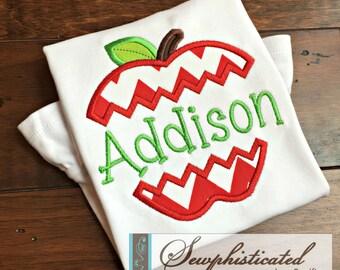 Split Apple Back to School Shirt - You Customize