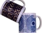 African Print Coffee and Tea Mugs