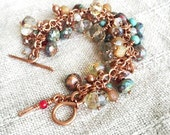 BEACHY - Multi-Crystal and Turquoise Copper Bracelet
