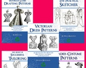 SPECIAL ~ Collection of 5 x Victorian DRESS PATTERN Books ~ Design Stunning Costumes for Dressmakers Printable Instant Download