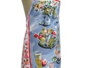 Metro Retro * The Summer Alfresco Table *  Vintage Tea Towel Apron -  OOAK, upcycled.  Christmas, BIRTHDAY  Gift Idea.  Made in Australia
