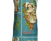 Metro Retro  'Australian Koalas' Vintage Tea Towel Kitchen Apron - Christmas, Birthday, Gift Idea  - OOAK, upcycled.  Made in Australia