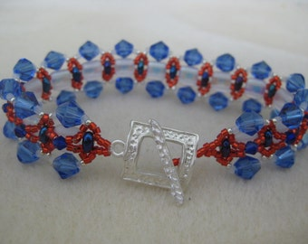 Bling out and Show your American PRIDE.  Red White and Blue for the holidays or anytime.