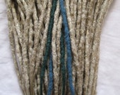CUSTOM short crochet synthetic dreadlock extensions - natural look, double ended, 20 pieces.