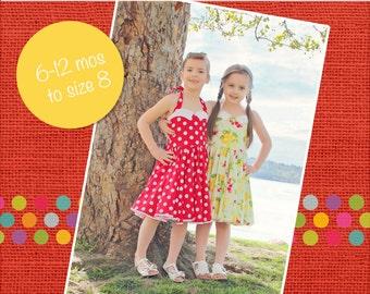 Betty's Fifties Dress PDF Pattern Sizes 6/12m to 8 Girls