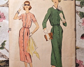 Vogue Sewing Pattern 9076 Vintage Dress 1957