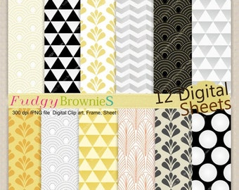 ON SALE SALE,Digital paper pack 7.5x11, gatsby digital background , No.195 printable background, instant download paper