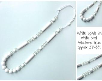 White Nursing Necklace Babywearing Necklace