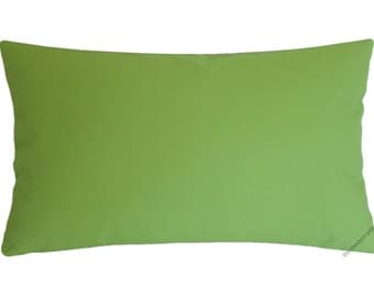 Organic Avocado Green Decorative Throw Pillow Cover / Pillow Case / Cushion Cover / Cotton / 12x18""
