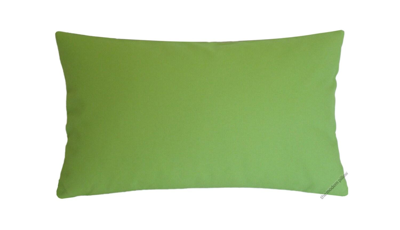 Organic Decorative Pillow Covers : Organic Avocado Green Decorative Throw Pillow Cover / Pillow