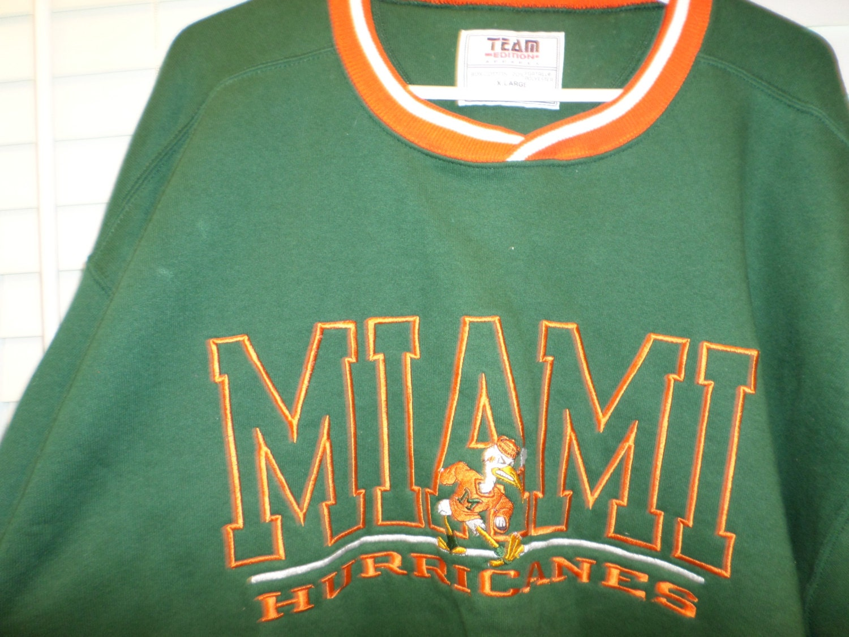 Sale Miami Hurricanes Sweatshirt Jersey Team Editions Logo