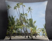Palm trees pillow cover - pillow cover - Hawaii accent pillow cover - hawaii palm trees pillow cover - hawaii - palm trees home decor