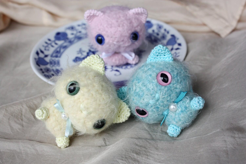 Tiny Amigurumi Cat Pattern : Amigurumi Tiny Cat Pattern PDF Crochet Tutorial Instant