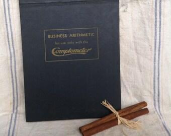 Industrial Comptometer Hardback Ledger - Vintage Industrial Home Decor, Writing Tablet, Industrial Ledger, Keeping Records,  Business Book