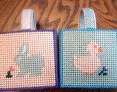 Plastic Canvas Easter Baskets, Set of 2, Custom Colors