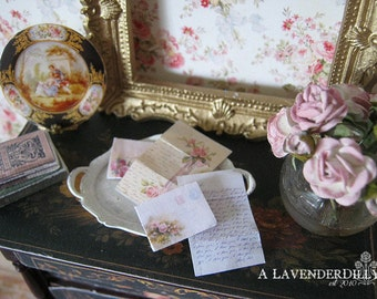Distressed/Vintage Set of Love Letters for Dollhouse Miniature